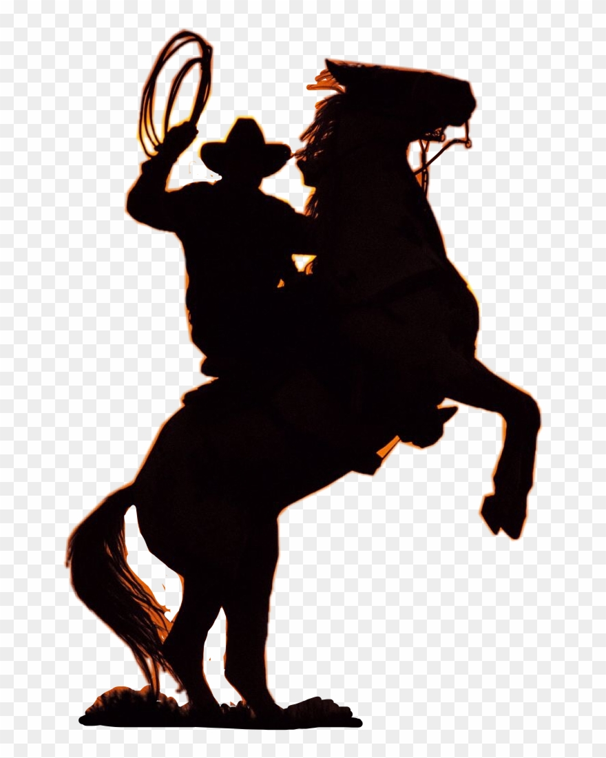 Western clipart transparent picture free stock Horse Png & Horse Clipart Transparent - Silhouette Of Cowboy ... picture free stock