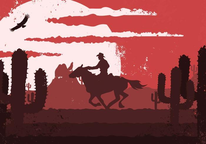 Western clipart vector download Gaucho Cowboy Western Vintage Illustration - Download Free ... download