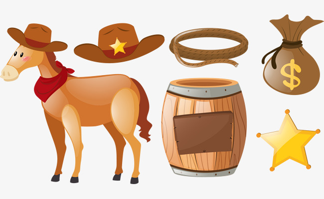 Western clipart vector image free Vector Hand Painted Western Cowboy, Cowb #36879 - PNG Images ... image free