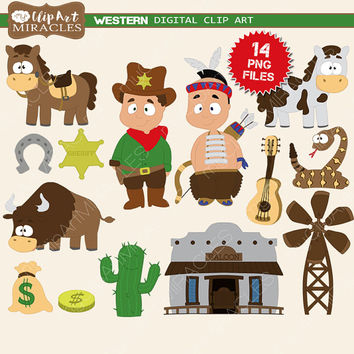 Western daze clipart png download Western clip art, Wild west clipart, Cute western party decoration kit,  Western graphics / Instant download, personal and commercial use png download