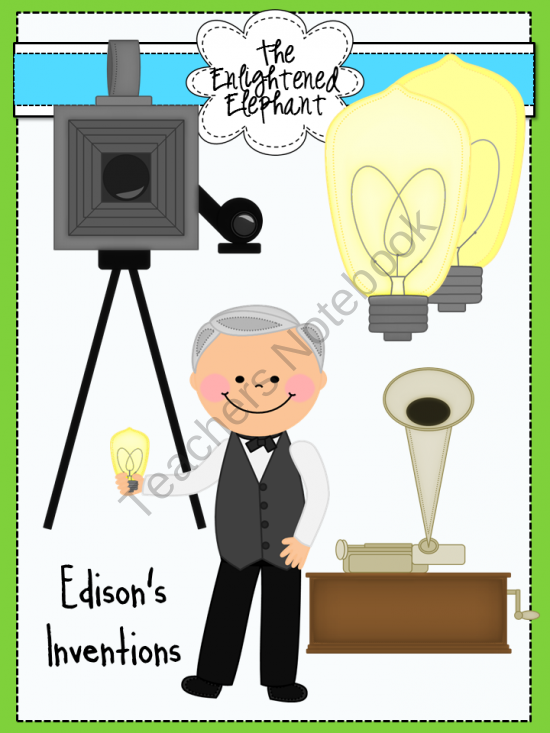Western daze clipart banner black and white library Inventions of Thomas Edison Clip Art product from The ... banner black and white library