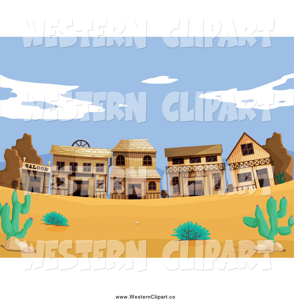 Western town clipart free clipart royalty free stock Vector Clip Art of a Wild West Desert Ghost Town by Graphics ... clipart royalty free stock