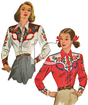 Western dress clipart image library stock Royalty Free Clipart Image: Vintage Fashion-Western Clothes ... image library stock
