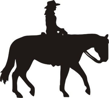 Western dressage clipart picture library download Western Pleasure Horse female rider   ideas for farm sign ... picture library download