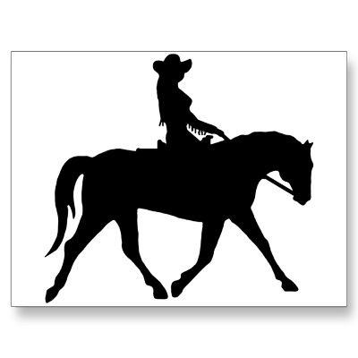 Western dressage clipart banner freeuse stock Cowgirl Riding Her Horse Postcard   Zazzle.com   cowgirl art ... banner freeuse stock