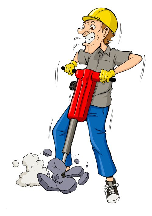 Western drilling clipart svg free Funny cartoon builders vector illustration 12 | Cartoony ... svg free