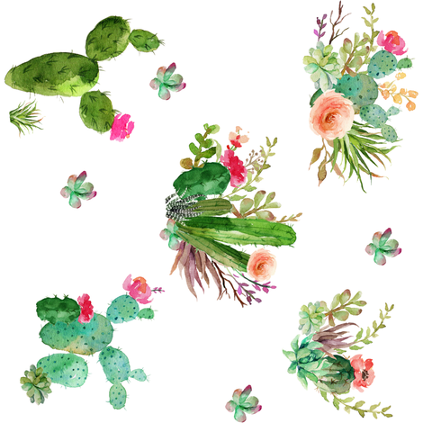 Western floral clipart vector transparent download Western Flowers - 90 degrees giftwrap - shopcabin - Spoonflower vector transparent download