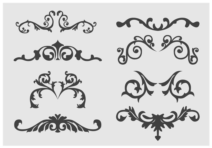 Western floral clipart graphic transparent Western Flourish Ornament vector - Download Free Vectors ... graphic transparent