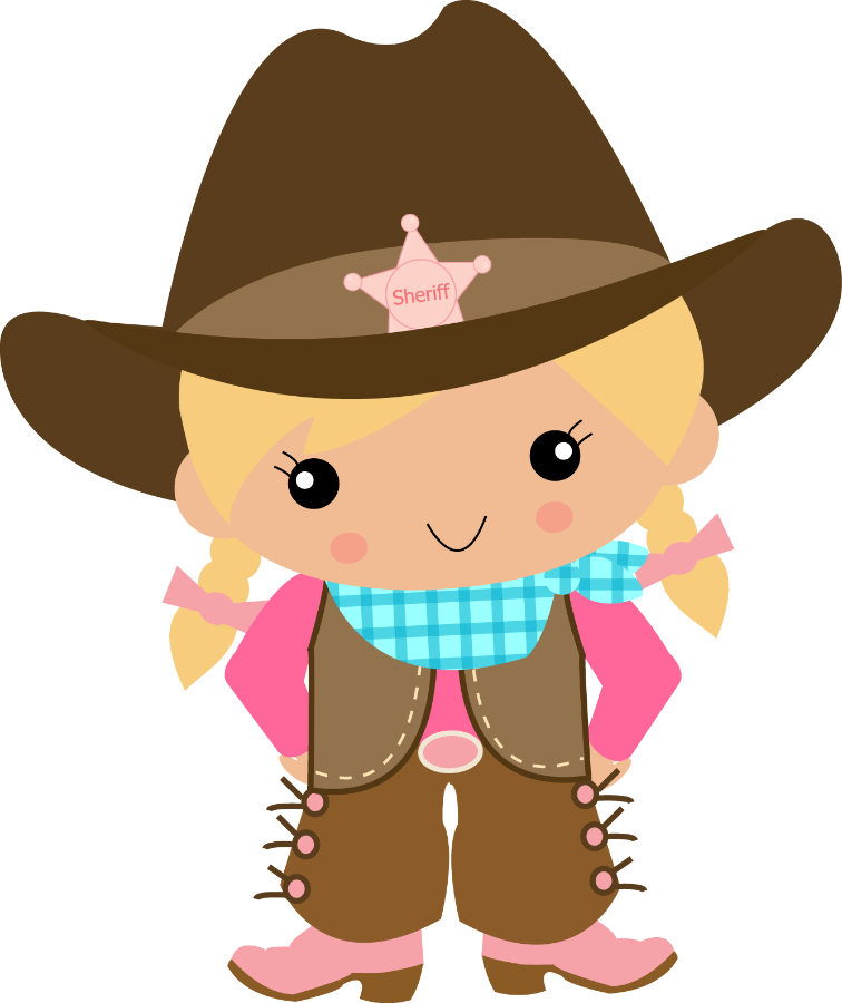 Western girl family clipart clip Cowboy And Girl Clipart clip