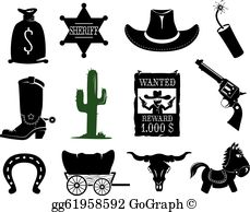Western images clipart vector royalty free download Western Clip Art - Royalty Free - GoGraph vector royalty free download
