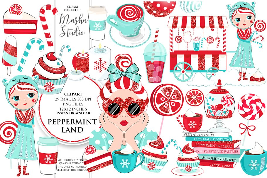 Western land clipart picture transparent download PEPPERMINT LAND clipart ~ Illustrations ~ Creative Market picture transparent download