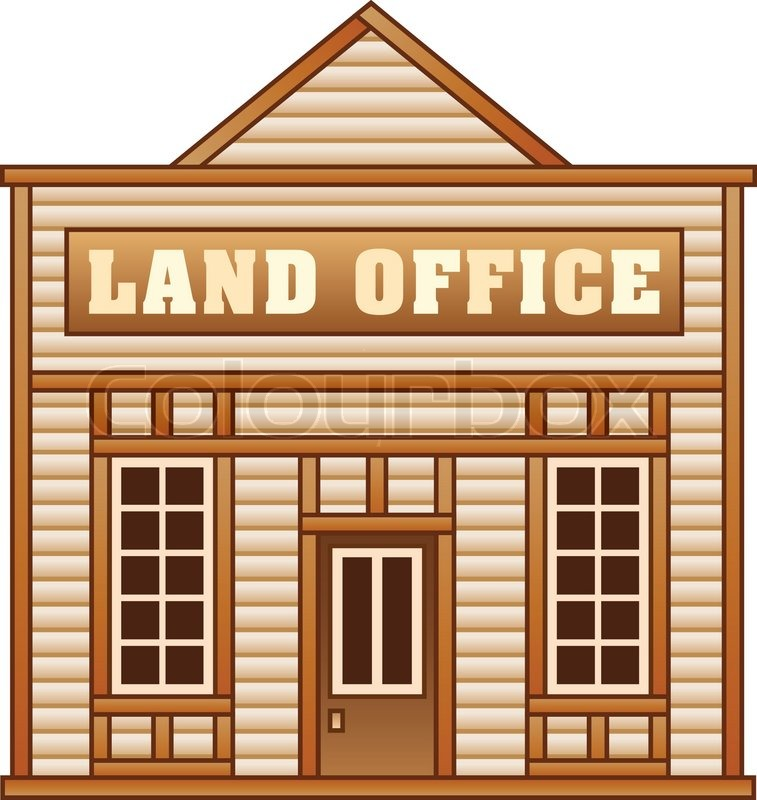 Western land clipart svg free library Land office from Wild West for game ... | Stock vector ... svg free library