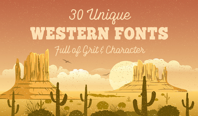 Western lettering clipart free jpg library stock 30 Unique Western Fonts Full of Grit & Character ~ Creative ... jpg library stock