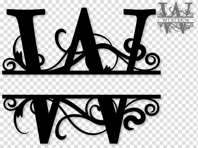Western letters clipart vector free library Monogram Letter Cricut , Initials transparent background PNG ... vector free library