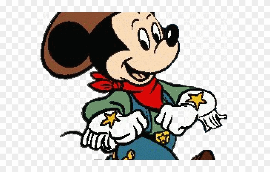 Western mickey clipart jpg transparent Western Clipart Disney - Mickey Mouse Cowboy - Png Download ... jpg transparent