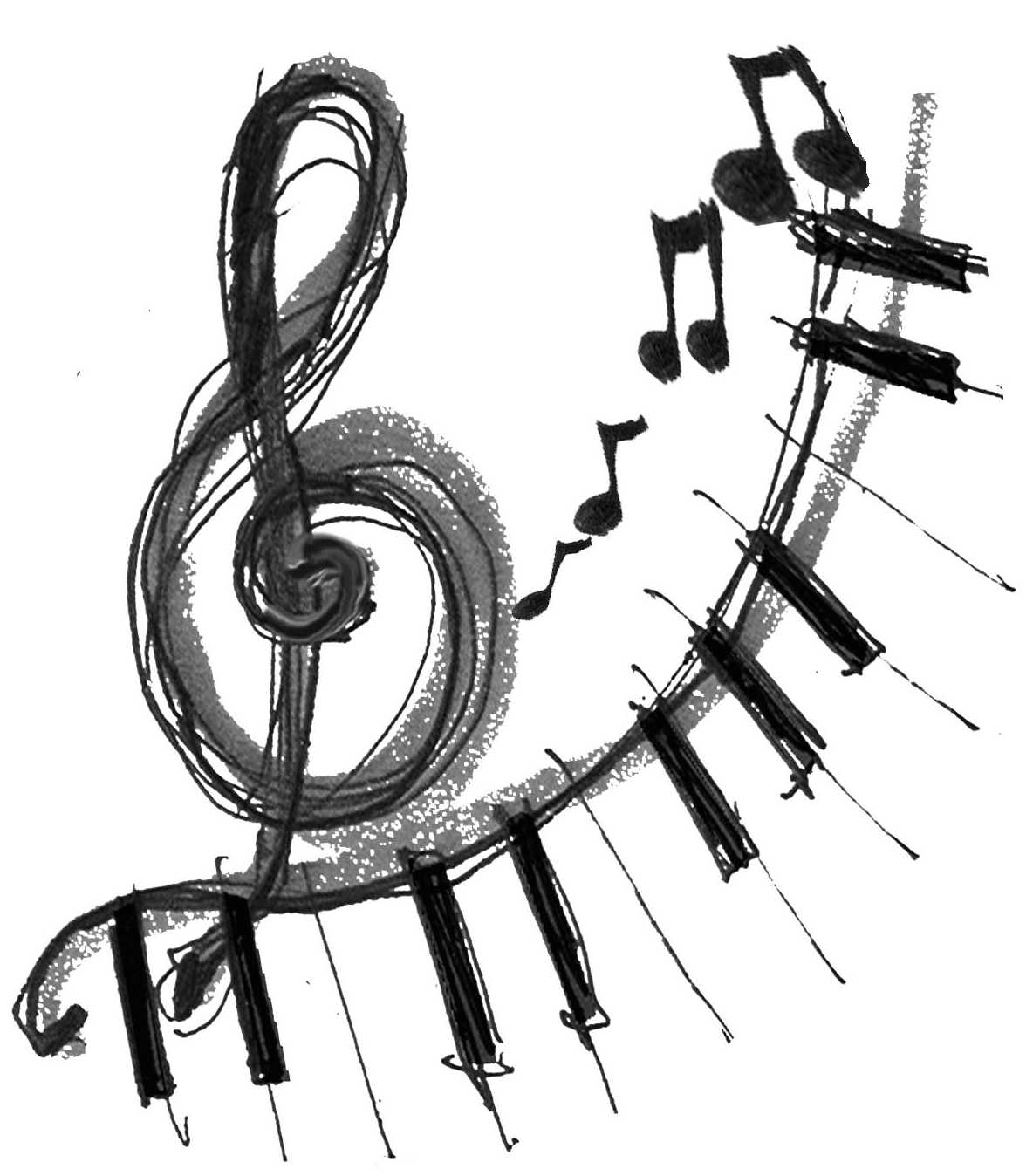Western music clipart black and white png image library library Free music teacher clip art my year end music recitals ... image library library