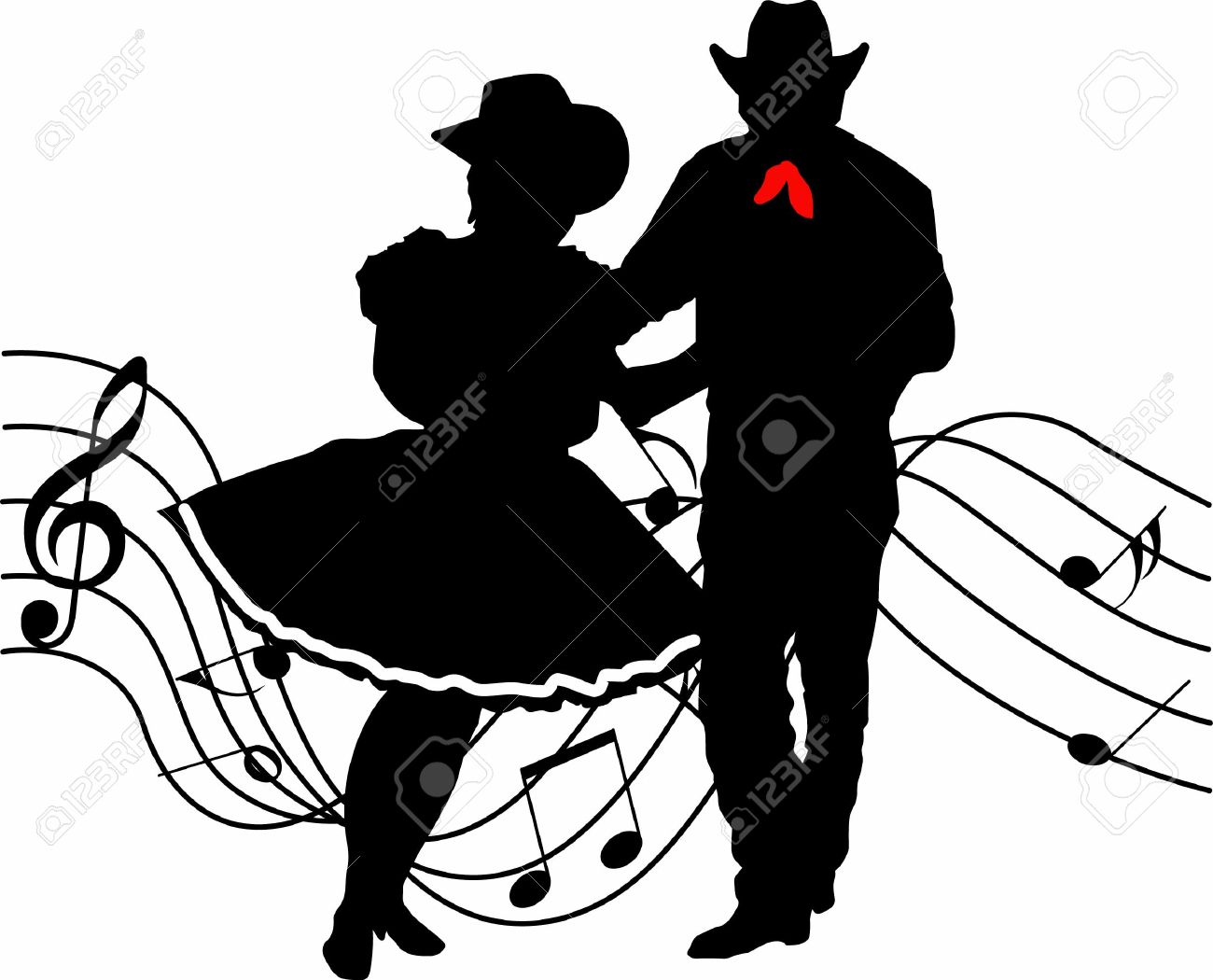 Western nite clipart png black and white download Square Dancer Clipart | Free download best Square Dancer ... png black and white download