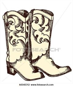 Western nite clipart jpg transparent stock easy cowboy boot painting - Google Search | paint night ... jpg transparent stock