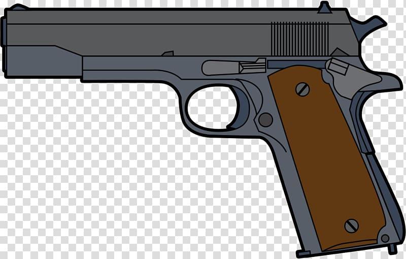 Western pistol clipart transparent jpg stock Gray and brown pistol illustration, Pistol Firearm Clip ... jpg stock