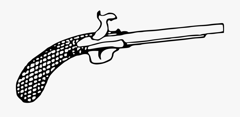 Western pistol clipart transparent image free library Flintlock Pistol Clipart , Transparent Cartoon, Free ... image free library