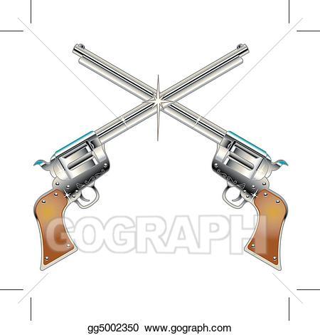 Western revolver clipart clip library download Vector Illustration - Six guns pistols western clip art. EPS ... clip library download