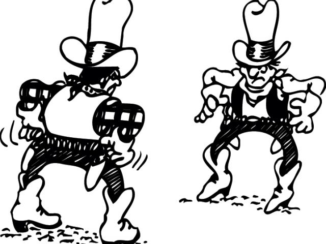Western showdown clipart graphic black and white stock Western Clipart showdown 2 - 450 X 327 Free Clip Art stock ... graphic black and white stock