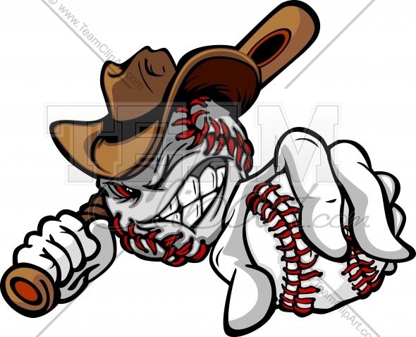 Western showdown clipart jpg download Cowboy Baseball Clipart Cartoon Image. jpg download