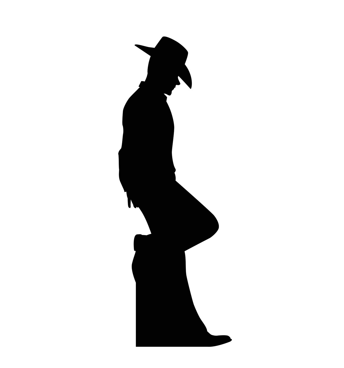 Western silhouette clipart clipart free library Advanced Graphics Cowboy Leaning Silhouette Life Size Cardboard Cutout  Standup clipart free library