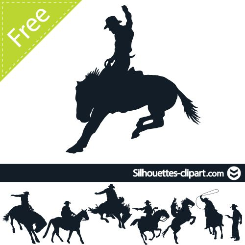 Western silhouette clipart free image free stock cowboy vector silhouette | silhouettes clipart | Silhouettes ... image free stock