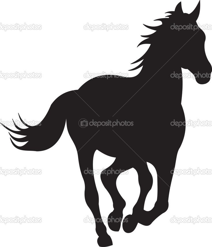 Western silhouette clipart free jpg freeuse download Western Silhouette Clip Art Free Running Horse - Free Clipart jpg freeuse download