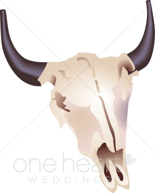 Western skull clipart picture royalty free library Bison Skull Clipart | Western Wedding Clipart picture royalty free library
