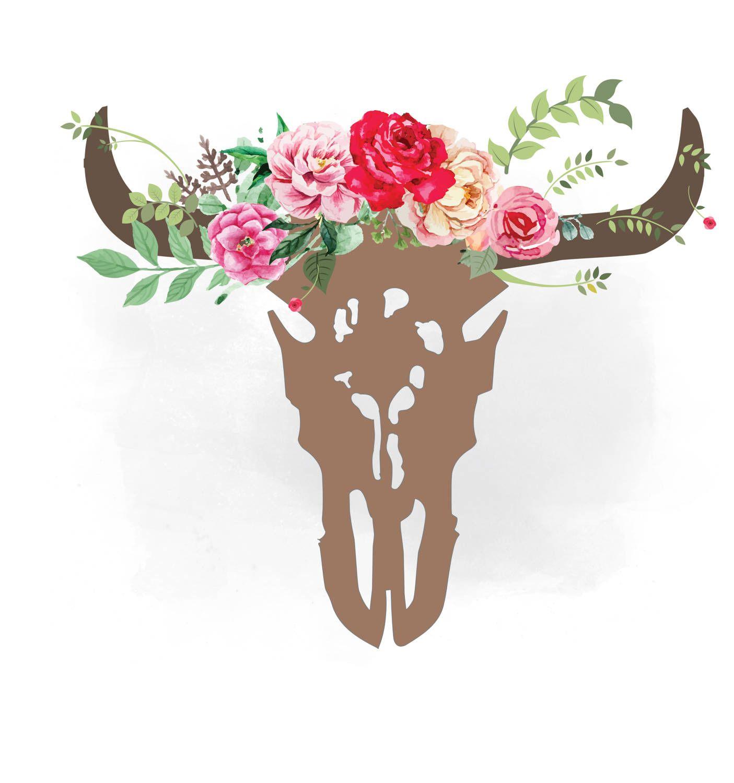 Western skull clipart vector transparent download Pin by Tammi Richardson on Cricut Maker | Bull skulls, Clip ... vector transparent download
