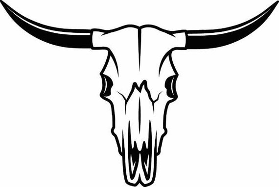 Western skull clipart image transparent download Cattle Skull Drawing | Free download best Cattle Skull ... image transparent download