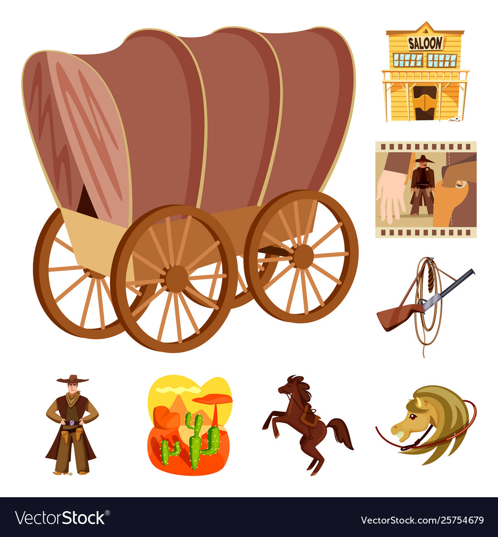 Western stagecoach horsewhip clipart svg download Wild and west icon set of vector image svg download