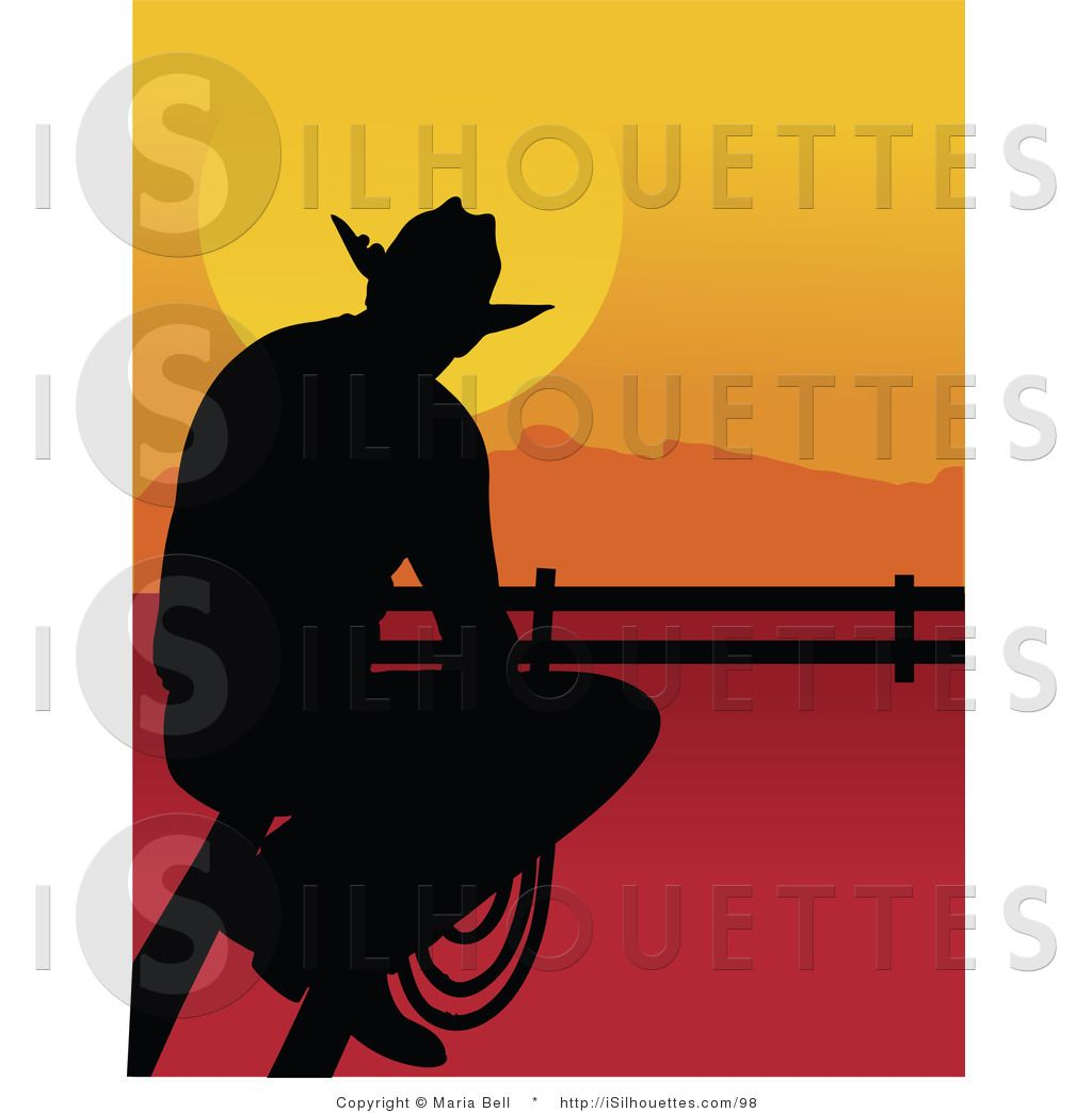 Western sunrise clipart svg library download Cowboy Silhouette Clip Art   Silhouette Clipart of a Cowboy ... svg library download