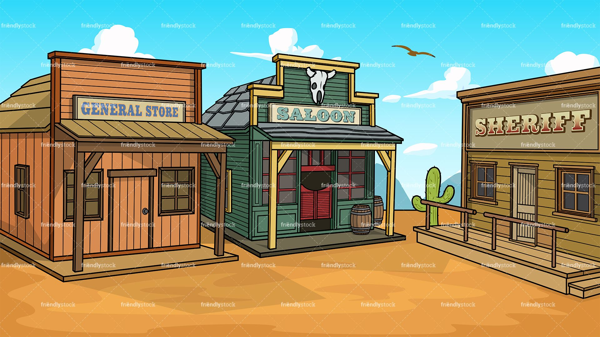 Western town clipart free svg free stock Wild West Town Background | GUI in 2019 | West town, Vector ... svg free stock
