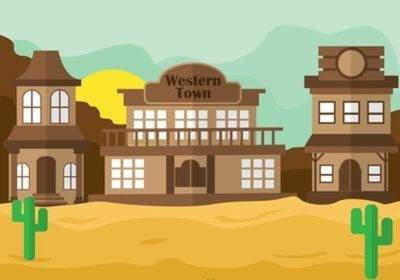 Western town clipart free graphic royalty free stock Western Town Vector Scene | Design in 2019 | Westerns, Free ... graphic royalty free stock