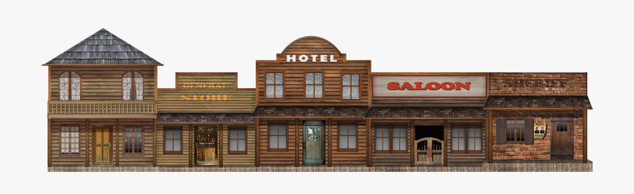 Western town clipart free vector royalty free Popular Western Town Clipart - Free Wild West Png, Cliparts ... vector royalty free