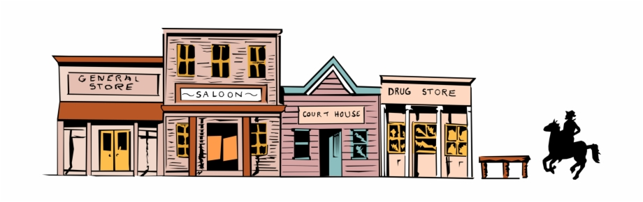 Western town clipart free banner freeuse stock West Town Image Illustration Of Western - Cartoon Old West ... banner freeuse stock