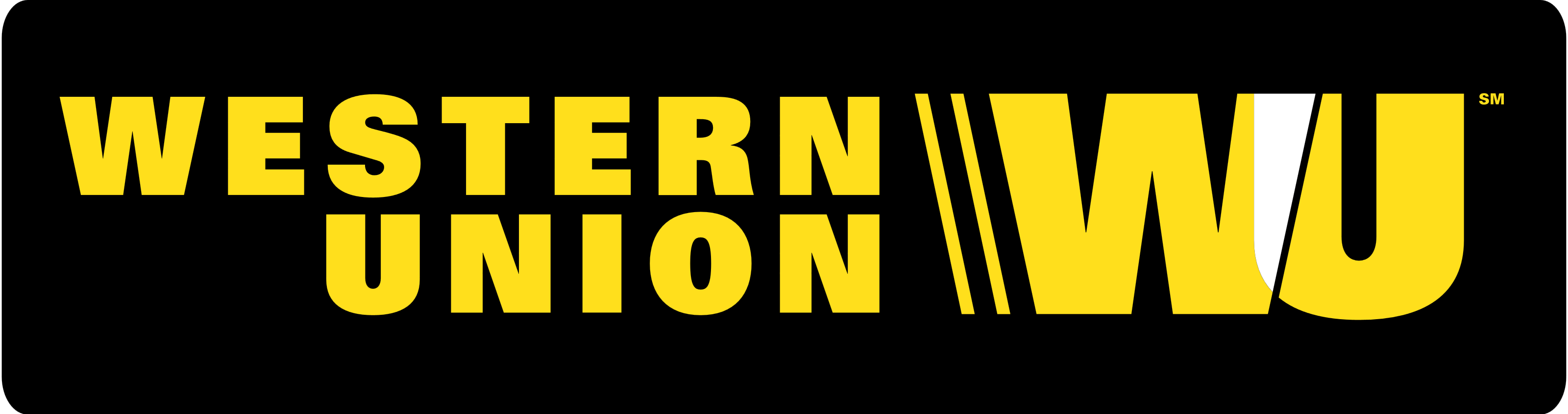 Western union logo clipart clip black and white stock Western Union – Logos, brands and logotypes clip black and white stock