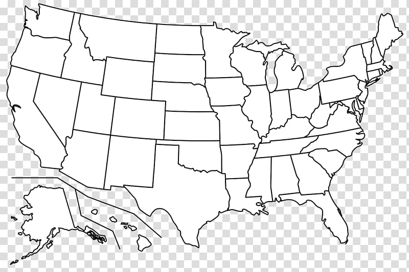 Western united states clipart jpg free stock White and black U.S.A. map illustration, Blank map Western ... jpg free stock