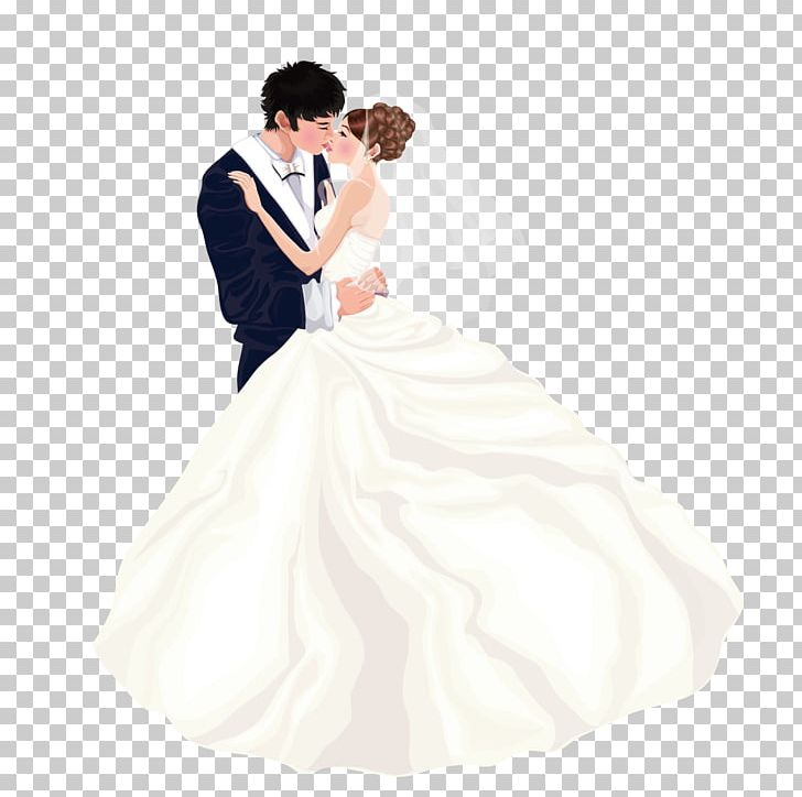 Western wedding couple clipart graphic black and white Bride Wedding Dress Marriage Couple PNG, Clipart, Cartoon ... graphic black and white