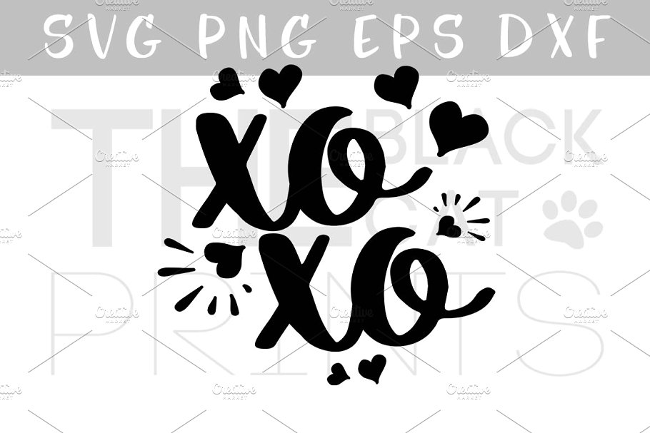 Western xoxo clipart png clipart transparent library XOXO Hugs and kisses SVG PNG EPS DXF clipart transparent library