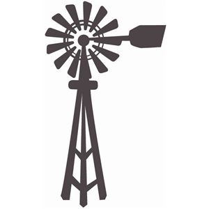 Westernwindmill black and white clipart image library Windmill | Silhouette Designs | Windmill drawing, Windmill ... image library