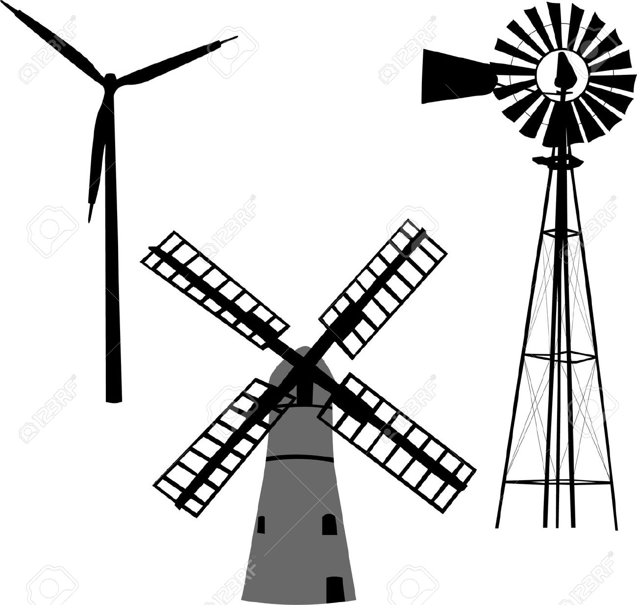 Westernwindmill black and white clipart clip art royalty free library Collection of Windmill clipart | Free download best Windmill ... clip art royalty free library