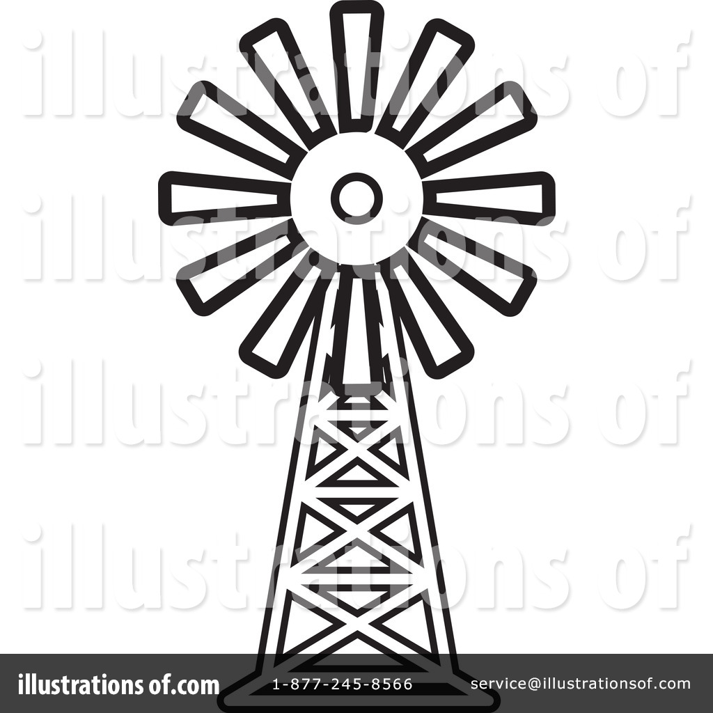 Westernwindmill black and white clipart vector black and white Collection of Windmill clipart | Free download best Windmill ... vector black and white