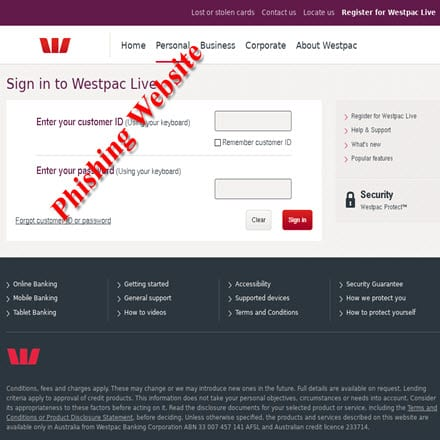 Westpac clipart new account application form svg stock Westpac Banking Corp. warns its Customers of Email Scam | IT ... svg stock
