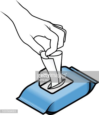 Wet wipes clipart clip art black and white stock Using Wet Wipes premium clipart - ClipartLogo.com clip art black and white stock