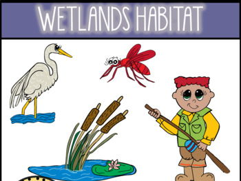 Wetland habitat clipart image free library Wetlands Habitat Clip Art image free library