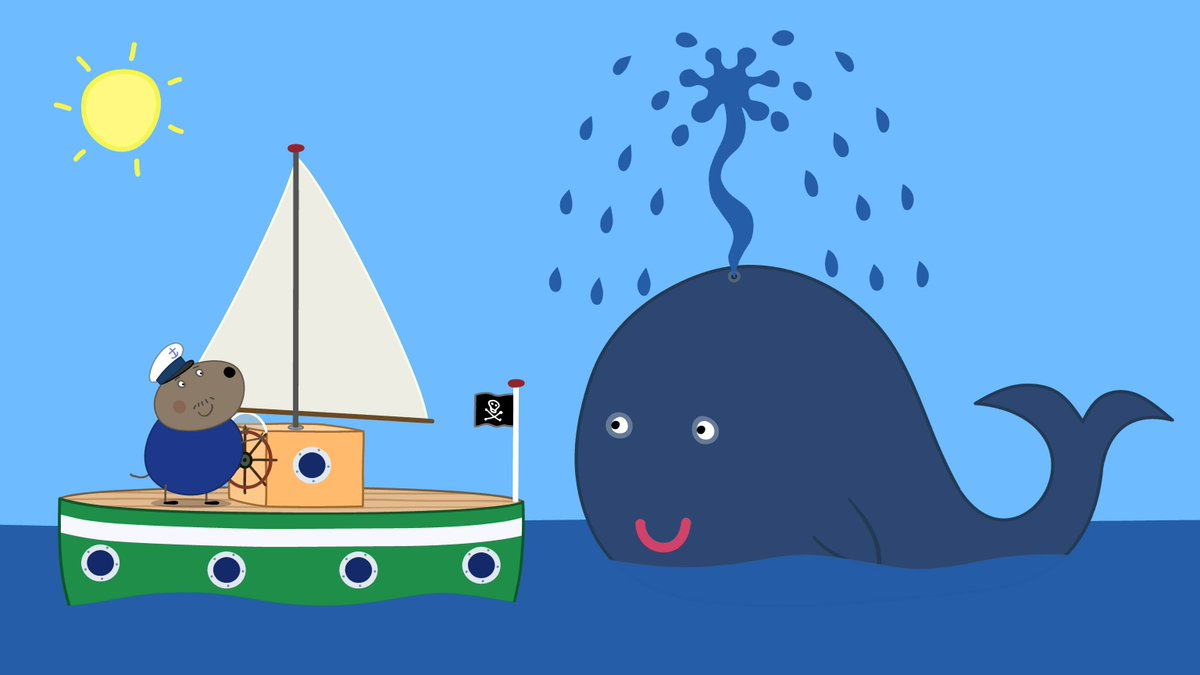 Whale clipart good morning clipart stock Peppa Pig US on Twitter: \
